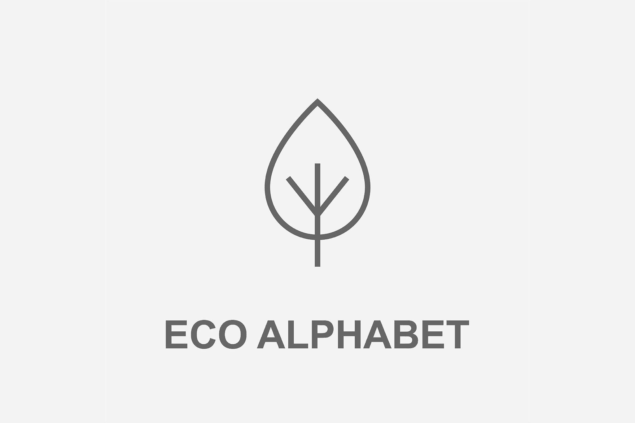 Eco Alphabet Icon Design